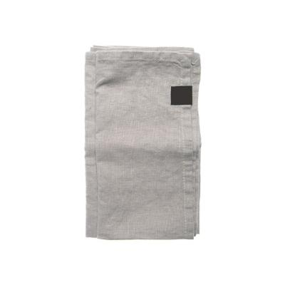Set 4 servilleta lino 45x45 cm gris