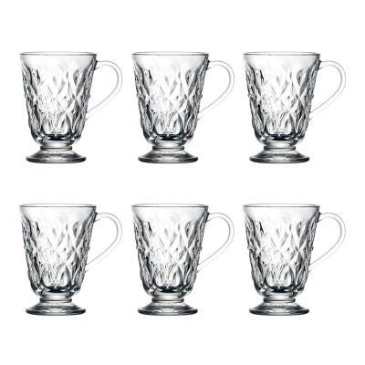Set 6 mugs Lyonnais 275 ml vidrio