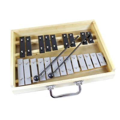Metalófono 25 tonos negro / plateado