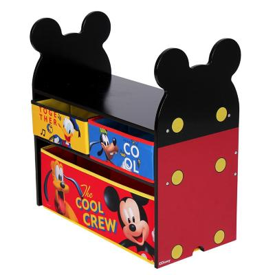 Organizador de juguetes Mickey 60x30x60 cm rojo