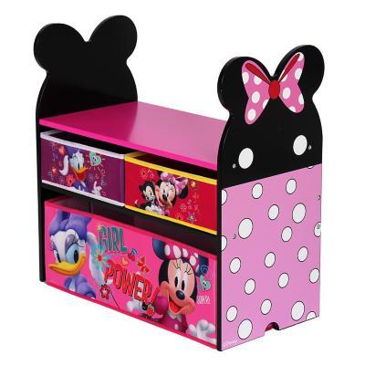Organizador de juguetes Minnie 60x30x60 cm rosado