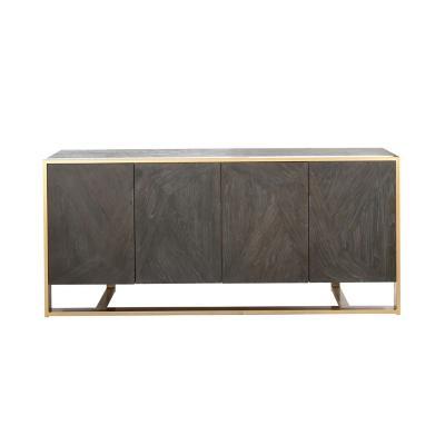 Buffet Portan madera 82x184x48 cm negro