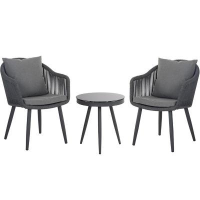 Set terraza Fortaleza 2 sillas y 1 mesa