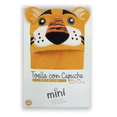Toalla capucha bebé 85x75 cm Tigre amarillo