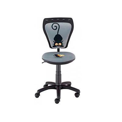 Silla PC infantil 54,5x48x79,5 cm gato negro