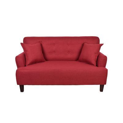 Sofá 2 cuerpos york 150x80x95 cm rojo
