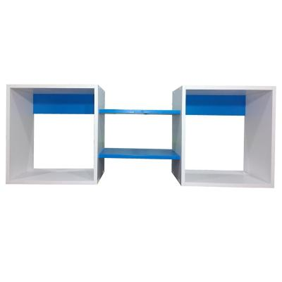 Repisa Cubo azul 40x120x25 cm