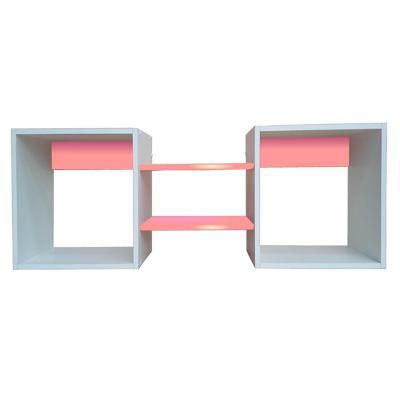 Repisa Cubo Rosado 40x120x25 cm