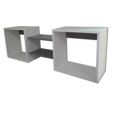 Repisa Cubo Negro 40x120x25 cm