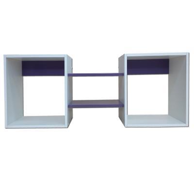 Repisa Cubo Morado 40x120x25 cm