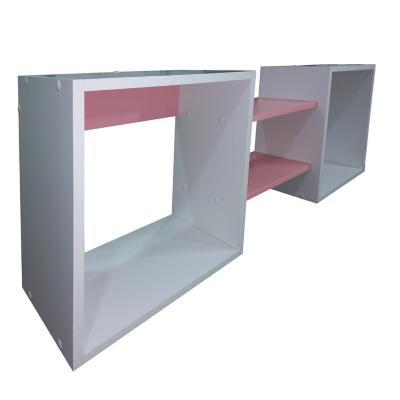 Repisa Cubo Rosado chicle 40x120x25 cm