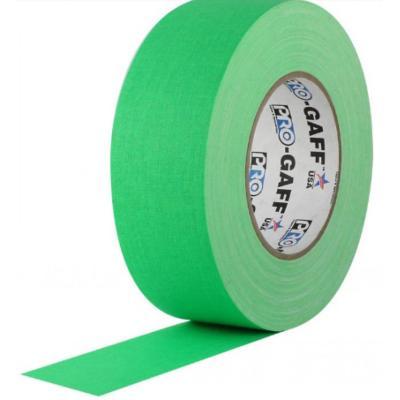 Cinta Gaffer de tela PRO GAFF Verde flúor