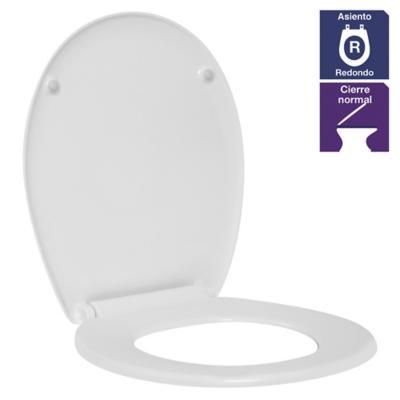 Asiento wc redondo de Coralink blanco
