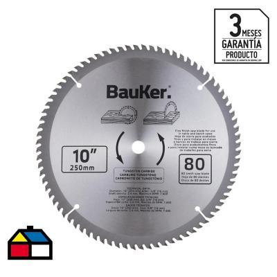 """Disco de sierra circular 10"""" 80 dientes"""
