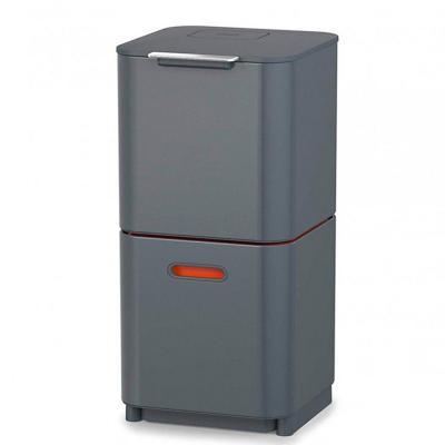 Basurero reciclaje totem grafito orange 60 litros