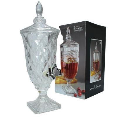 Dispensador de vidrio para bebidas 3,5 litros