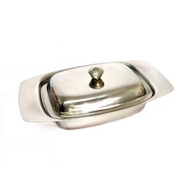 Mantequillero mermeladero de acero Inoxi 19x12x4cm