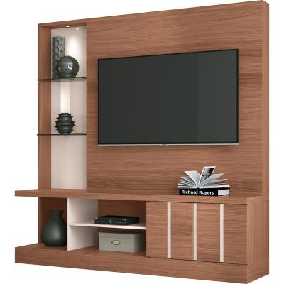 "Estante moderno TV 50"" 180x180x42 cm natural/blanco"