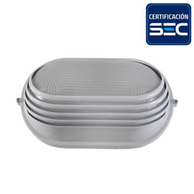 Tortuga metal oval Blanca 1 luz 100 W E27 IP44