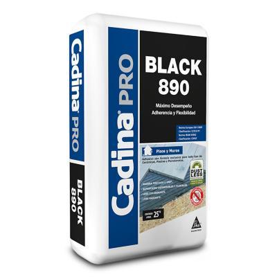 Adhesivo cerámico polvo Pro Black 890 25 kg