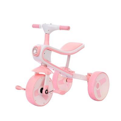 Triciclo Infantil 3-en-1 75,5x27x73 cm Rosa