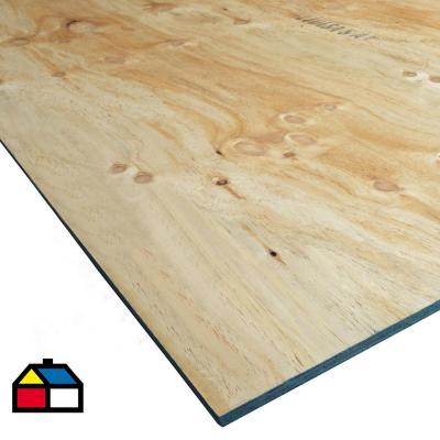 Terciado Estructural pino 15 mm 122 x 244 cm