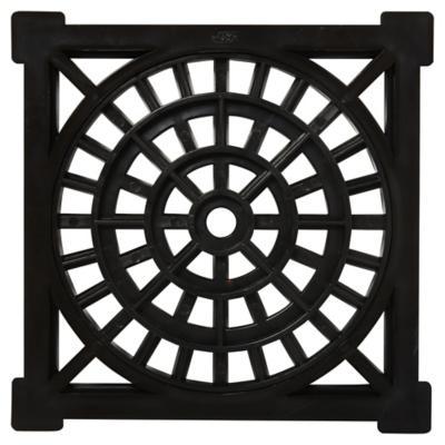 Rejilla Pileta PVC Cuadrada 15cm x 15 cm Negro 1u