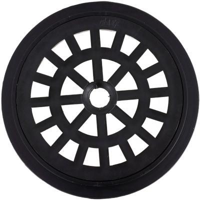 Rejilla Pileta PVC Redonda 10cm Negro 1u
