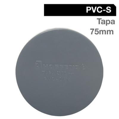 Tapa PVC-S Cementar 75mm Gris 1u