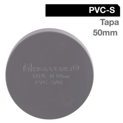 Tapa PVC-S Cementar 50mm Gris 1u