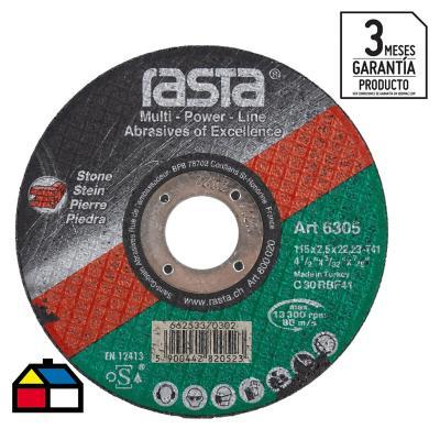 """Disco de corte piedra 4,5"""" óxido de aluminio"""