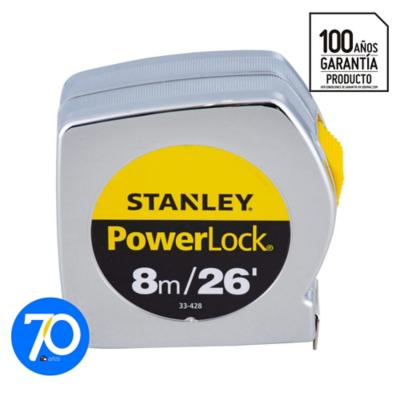 Huincha para medir 8 m metal amarillo