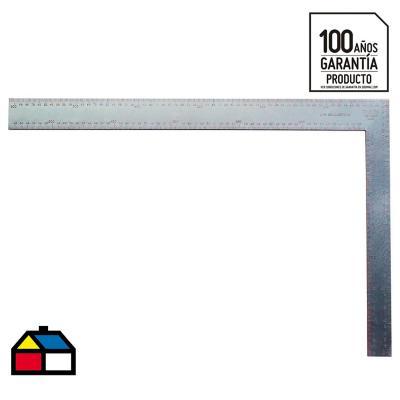 """Escuadra carpintería 16"""" aluminio negro"""