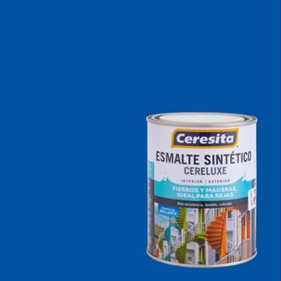 Esmalte Sintético Cereluxe 1/4 galón Azul Pacífico