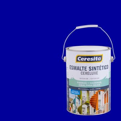 Esmalte sintético brillante 1 gl azul eléctrico