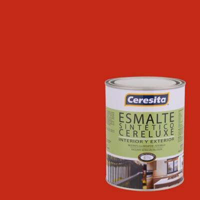 Esmalte Sintético Cereluxe 1/4 galón Bermellón