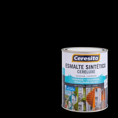 Esmalte Sintético Cereluxe 1/4 galón Negro