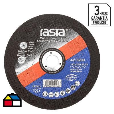 """Disco de corte metal 7"""" óxido de aluminio"""