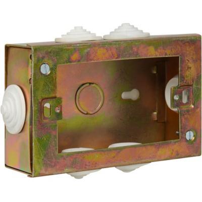 Caja de distribución sobrepuesta 12x7,8 cm metal