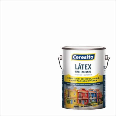 Pintura látex habitacional blanco 1 gl