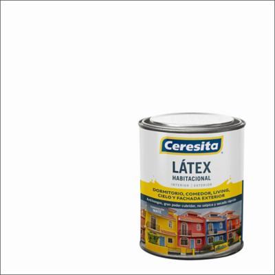 Pintura látex habitacional blanco 1/4 gl