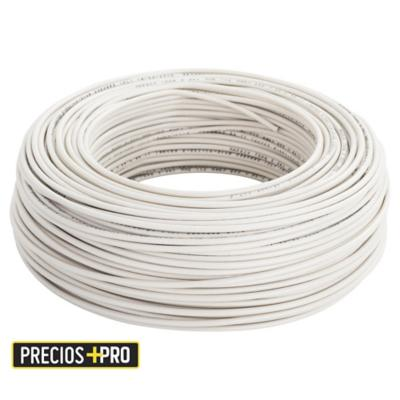 Cable eléctrico (Thhn) 12 Awg 100 m Blanco