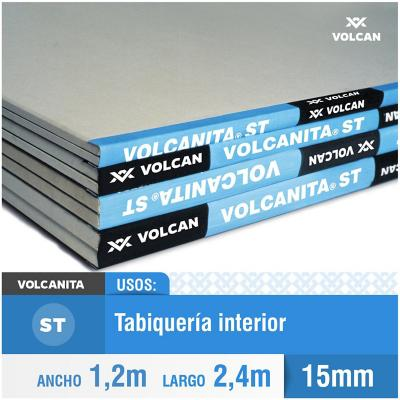 15 mm 120x240 cm Volcanita borde rebajado