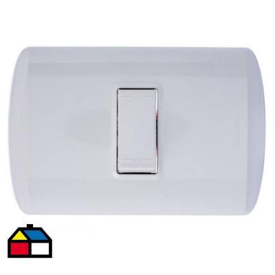 Interruptor conmutador (9/24) 10 A Blanco