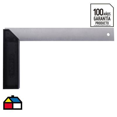 """Escuadra carpintería 10"""" aluminio negro"""
