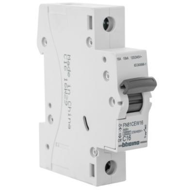 Interruptor automático 16 A curva C 6KA