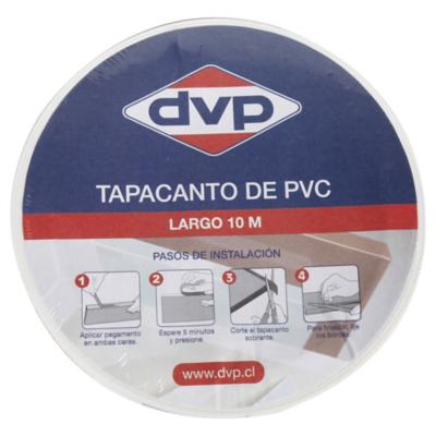 21mm 10m Tapacanto PVC blanco