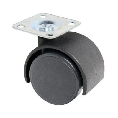 Rueda con base giratoria para mueble 50 mm