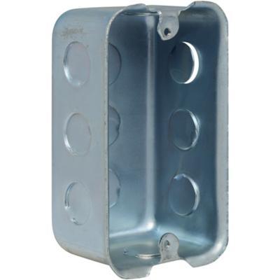 Caja de distribución rectangular embutida 100x60 mm fierro