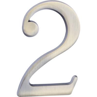 Número para casa #2 plateado